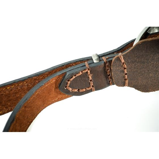 Rusty Red Oak Leather Harness stitching