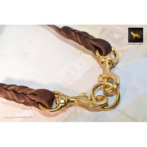 Love Knot Coupler II Leather Leash 3