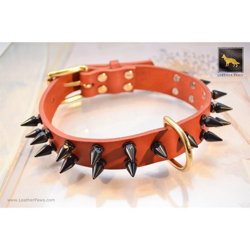 Gladiator II Spiked Leather Collar